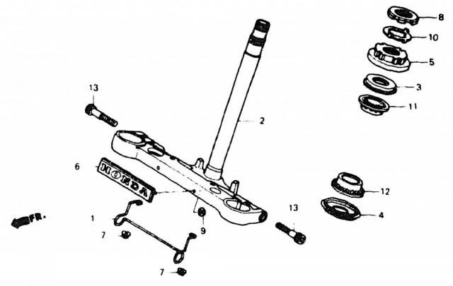 VF750C V45 1988 | STEERING STEM \ Рулевая колонка