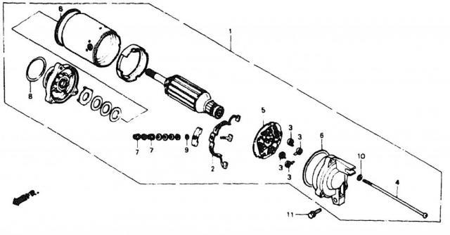 VF750C V45 1988   STARTER MOTOR \ Стартер